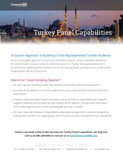 Turkey Panel